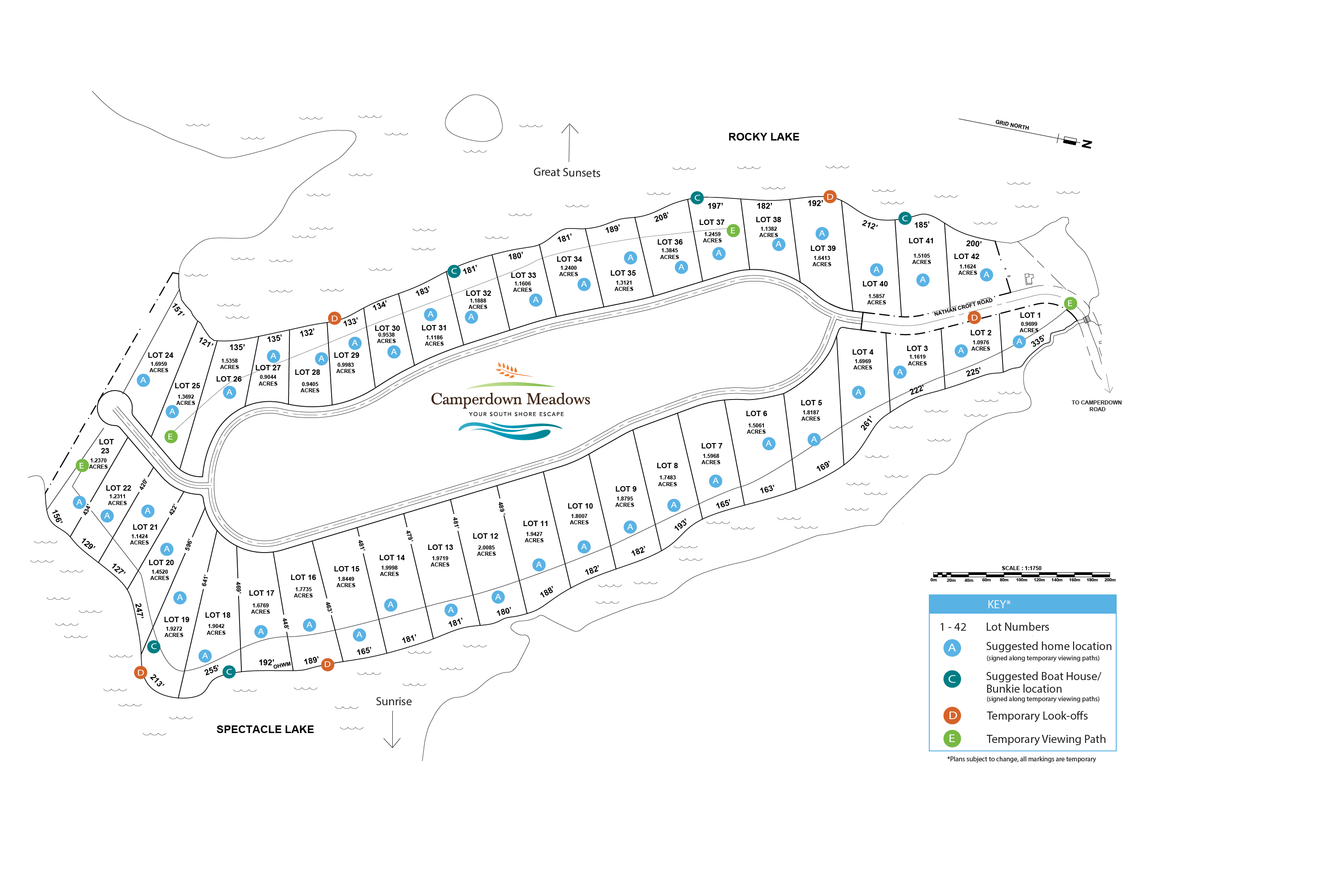 Camperdown Lot Map