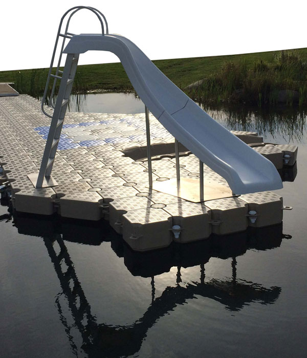 floating dock with slide