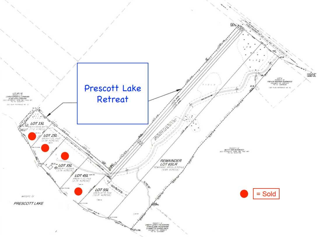 Prescott Lake Lot Plan