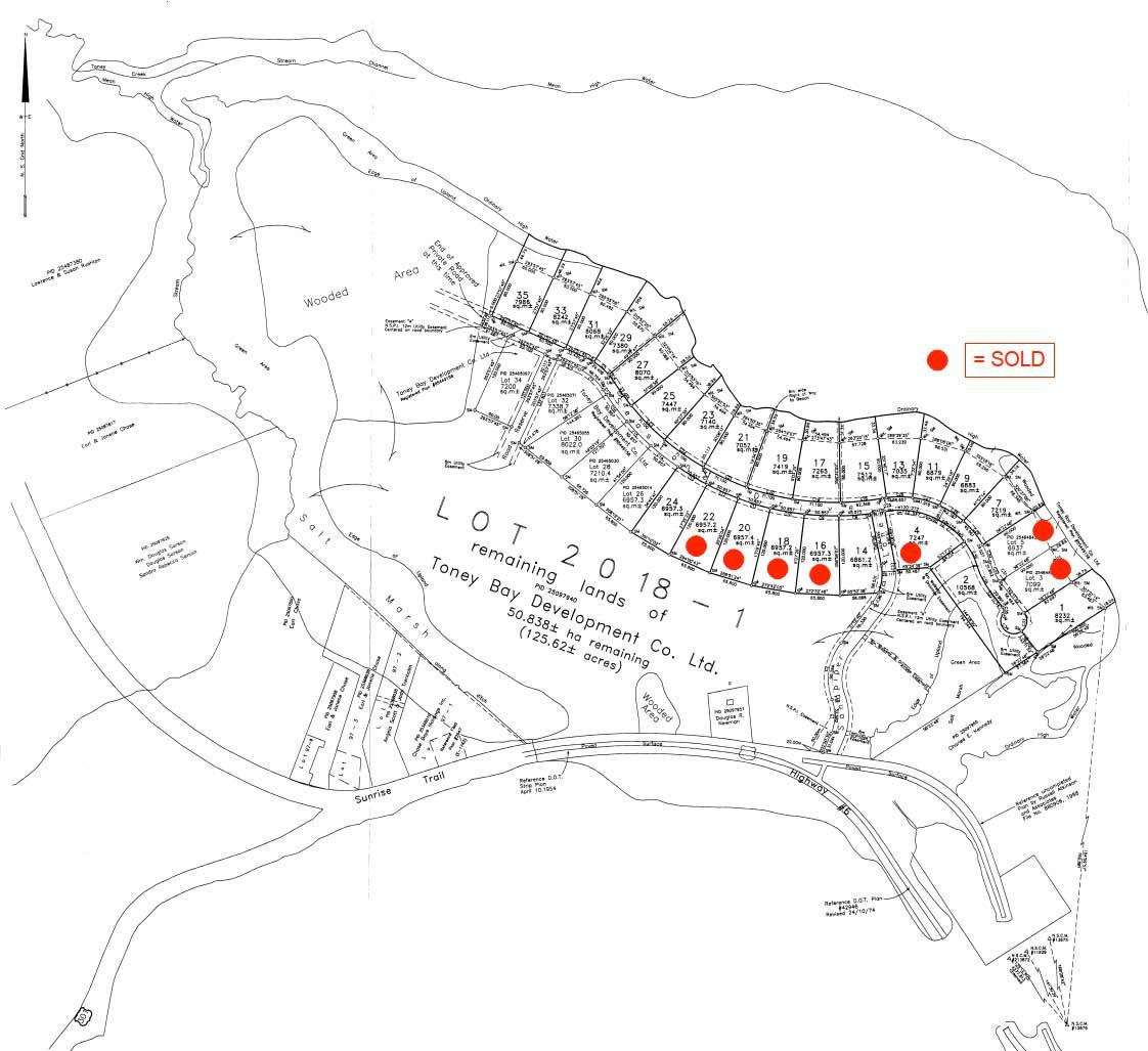 Toney Bay Lot Plan